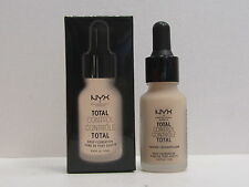NYX Total Control Drop Foundation color TCDF03 Porcelain 0.43 oz New In Box