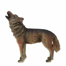 Realistic Lovely Wolf Figure Solid Plastic Toy Wild Animal Model Birthday Gift