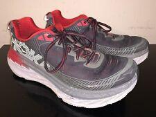 Hoka One One Bondi 5 Black Red Gray Men's Running Shoes Size 10.5 M