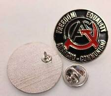 FREEDOM EQUALITY ANARCHO COMMUNISM PIN (MBA 536)