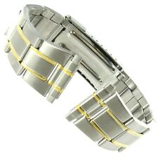 16-22mm Flex On Two Tone Stainless Steel Divers Deployment Buckle Watch Band