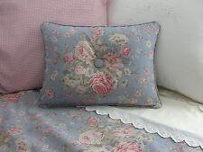 NEW Custom Ralph Lauren Shelter Island Blue Floral Accent Pillow 1 Button