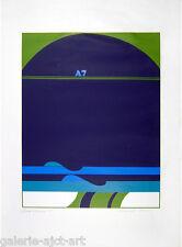 Rare Ebener Wolf (1936) Sérigraphie Originale 1971 (Signée/120ex.) op art 40ans