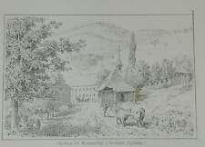 Münstertal Spielweg Schwarzwald Post Station Pferde Kutsche Litho Lederle 1881