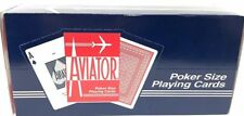 Aviator Playing Cards Poker Size (1 Case) 12 Decks, Free Expedited Shipping