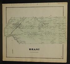 New York Erie County Map Brant Township  c1866  W12#18