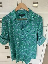 Banana Republic Dillon Classic-Fit Botanical Print Soft Shirt Blouse Medium M