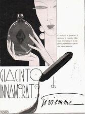 PUBBLICITA 1931 GI.VI.EMME PROFUMO GIACINTO INNAMORATO PERFUME MODA DONNA