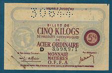 FRANCE - BON 5 KILOGS D'ACIER. VALABLE JUSQU'AU 30-6-44. en NEUF  3,598,971