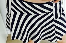 Mini A-Line Striped Skirts for Women