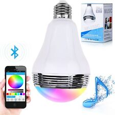 6W E27 Bluetooth APP Control Music Audio Speaker LED RGB Smart Bulb Light Lamp