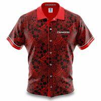Canterbury Crusaders Super Rugby 2020 Hawaiian Shirt Polo Shirt Sizes S-5XL!
