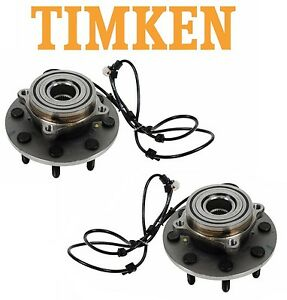 For Dodge Ram 2500 3500 4WD Set of Front Wheel Bearings & Hubs Assies Timken