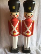 TOY SOLDIER VINTAGE RED 42IN LIGHTED BLOW MOLD YARD DECOR