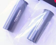 Tija fouriers 1PCS Negro Manga Shim 31.6mm a 30.9mm Adaptador de tubo del asiento 90mm