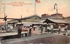 Baltimore Maryland vendors and shoppers Lexington Market antique pc Z42011