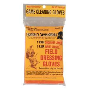 Hunters Specialties Field Dressing Gloves - 6 Pair Each Wrist & Shoulder Length