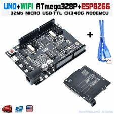 UNO+WiFi R3 ATmega328P+ESP8266 32Mb memory Micro USB-TTL CH340G Arduino WemOs