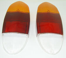 TAIL LIGHT LENS AMBER RED WHITE FITS VOLKSWAGEN TYPE3 1970-1973  GHIA  1972-1974