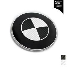 Carbon Emblem Aufkleber Ecken FÜR edeles BMW Tuning / Alle Modelle
