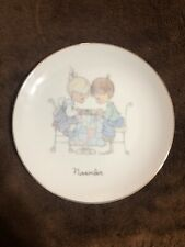 Enesco 1983 Precious Moments November 6 1/2 Inch Collector Plate Euc