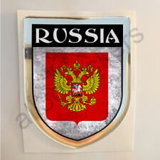 Russia Sticker Coat of Arms Resin Domed Stickers Grunge Flag 3D Adhesive Car