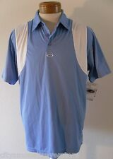 NWT Oakley Conduct Mens Golf Polo Shirt L Light Blue/White MSRP$65