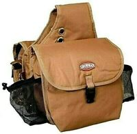 Showman Deluxe Brown Tan Nylon Cordura Insulated Saddle Bags Horse Tack