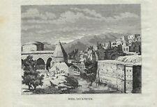 Stampa antica BITLIS scorcio della città Turchia Turkey 1879 Old Antique print