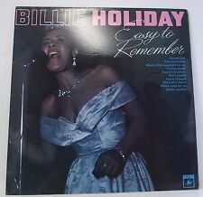 BILLIE HOLIDAY : EASY TO REMEMBER Album Vinyl LP 33rpm MONO Excellent