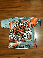 Vintage 90's Chicago Bears Magic Johnson All Over Print Shirt Single Stitch M.