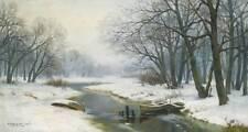 Winter Stream Boats by Ivan Avgustovich