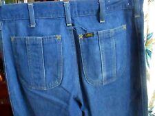 32x33 Actual  FIT True Vtg 70s LEE HIPPY POCKET BOOTCUT Mens Denim Jeans USA