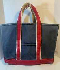 Vintage L.L Bean Boat And Tote Bag Blue And Red Large