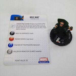 Heroclix Secret Invasion set Mole Man #031 Uncommon figure w/card!