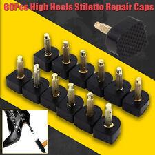 USA 60X Mixed Footful Black PU High Heel Shoes Stiletto Repair Tips Cap Plates
