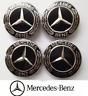 4x75mm für Mercedes Benz Nabenkappen Nabendeckel Felgendeckel Radkappe Schwarz