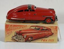 Vintage Schuco FEX 1111  Tin Wind-up car  with ORIGINAL BOX