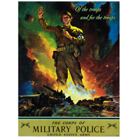 "1942 Military Police ""Of the Troops"" Vintage Style WW2 US Army Poster - 18x24"
