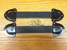 Antique Trunk Hardware-Two  Leather Trunk  Handles, 4 Metal ends-& Nails-R