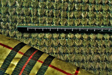 OLIVE GREEN BOILED WOOL CHUNKY SEEDED KNIT RVERSE LINED WITH CHECK JERSEY C166
