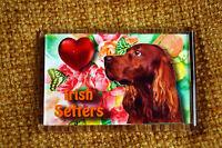 Irish Setter Red Setter Gift Dog Fridge Magnet 77x51mm Xmas Mothers Day Gift