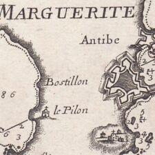 Carte Géographique XVIIIe Île Sainte-Marguerite Tours Croisette Gabelles 1764