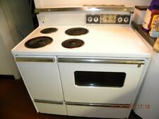 Vintage Retro Ge General Electric Range Stove Late 1960's 1970's White, Working