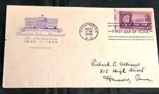 US FDC #932 Roosevelt; Cachet; Washington, DC