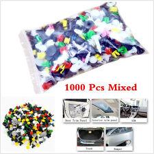 Mixed 1000Pcs Car Body Bumper Panel Fastener Retainer Clips Push Pin Rivet Kits
