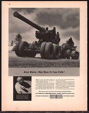 1943 WW II 155mm Gun WWII WW2 Synthane Oaks, PA Pennsylvania AD