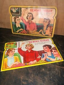 Vintage Sewing Needle Book Lot Sewing Susan Incomplete Sets.see Photo's