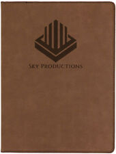 Personalized Jr. Portfolio Brown Leatherette Engraved Free Padfolio Note Pad