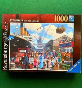 Titanic's Maiden Voyage 1000 Piece Ravensburger Jigsaw Puzzle